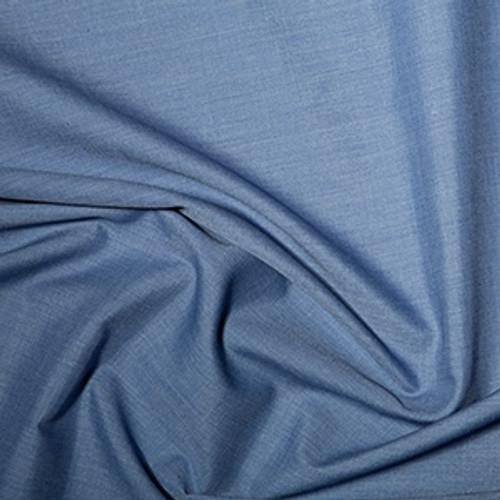 Denim Plain Polycotton Fabric, 44in wide, Sold Per HALF Metre