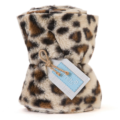 Cream Leopard Faux Fur Trim, 14cm wide x 2mtr Roll