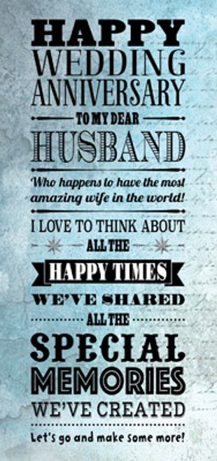 Happy Wedding Anniversary (Husband) card