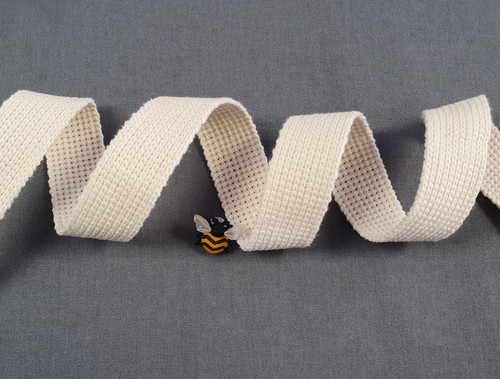 Ecru Webbing, 25mm wide - Perfect for Bag Handles/Straps, Sold Per Metre