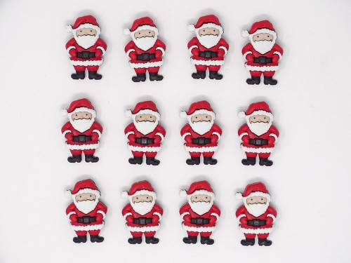 Santa Father Christmas Novelty Christmas Buttons, Sold Individually