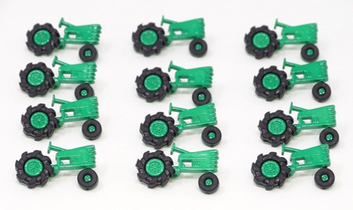 Green Tractor Novelty Buttons, Sold Individually