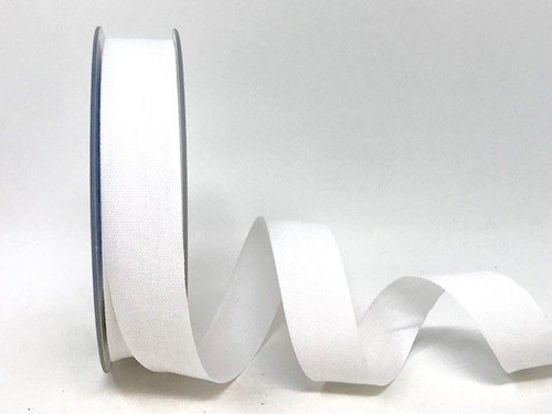 White Cotton Blend Tape, 25mm wide, Sold Per Metre