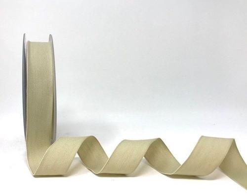 Beige Cotton Blend Tape, 25mm wide, Sold Per Metre