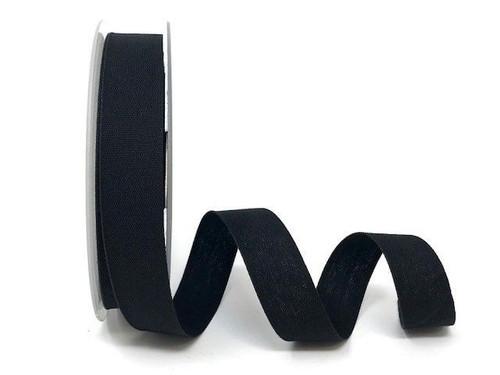 Black Cotton Blend Tape, 25mm wide, Sold Per Metre