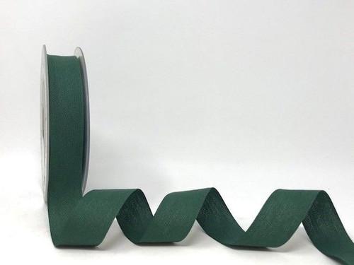 Bottle Green Cotton Blend Tape, 25mm wide, Sold Per Metre