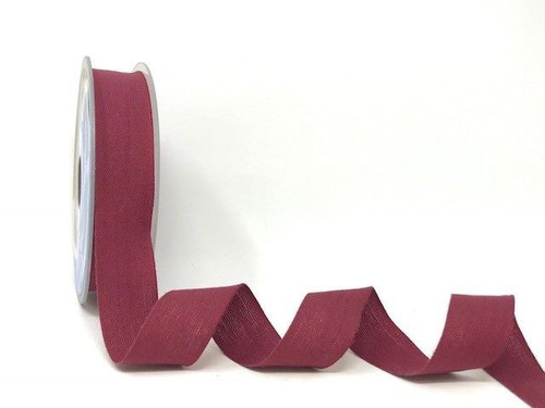 Burgundy Cotton Blend Tape, 25mm wide, Sold Per Metre
