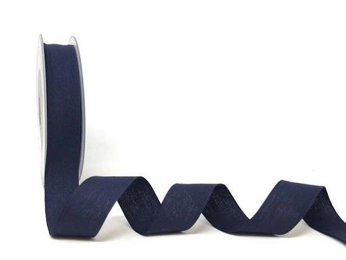 Navy Cotton Blend Tape, 25mm wide, Sold Per Metre
