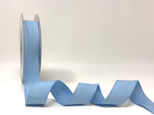 Pale Blue Cotton Blend Tape, 25mm wide, Sold Per Metre