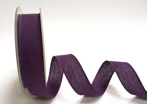 Purple Cotton Blend Tape, 25mm wide, Sold Per Metre
