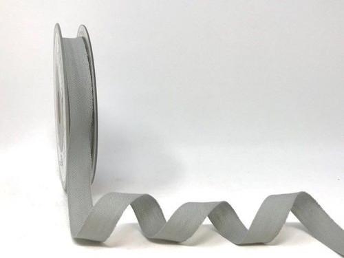 Silver Grey Cotton Blend Tape, 14mm wide, Sold Per Metre