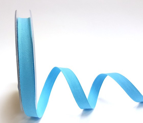 Turquoise Cotton Blend Tape, 14mm wide, Sold Per Metre