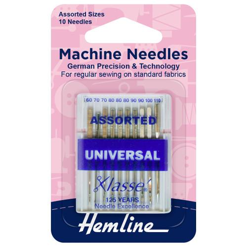 Machine Needles - Universal - Assorted Sizes 60 - 110 (10 needles)