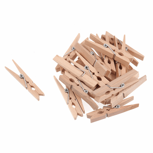 Natural Wood Medium Pegs (20pc)