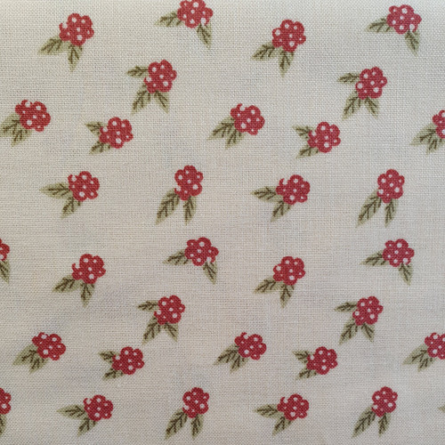Berries on Cream Cotton Fabric, 150cm/60in wide, Sold Per HALF Metre