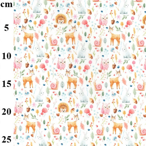 Forest Folk 100% Cotton Fabric, 150cm/60in wide, Sold Per HALF Metre
