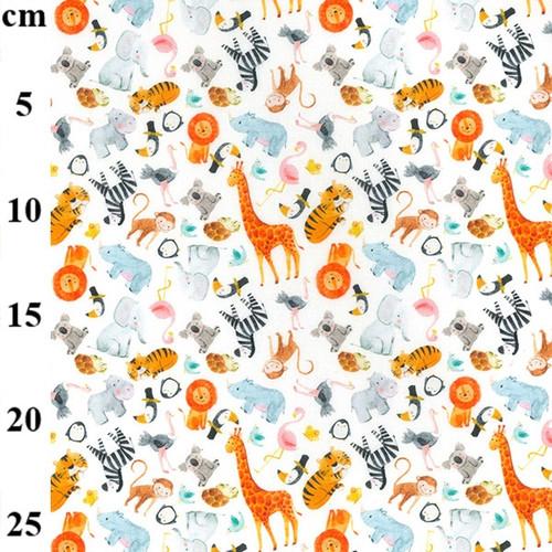 Wild Animals 100% Cotton Fabric, 150cm/60in wide, Sold Per HALF Metre
