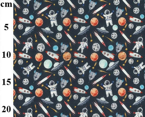 Space Adventure 100% Cotton Fabric, 150cm/60in wide, Sold Per HALF Metre