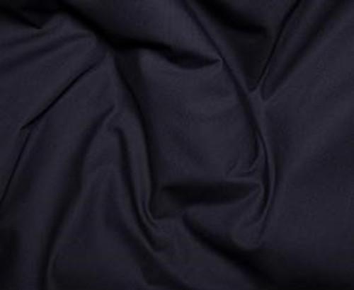 Midnight Plain 100% Cotton Poplin Fabric, 112cm/44in wide, Sold Per HALF Metre