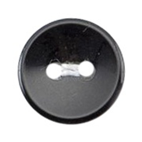 Black 11mm 2-hole Buttons on Card (Code B) x 9pc