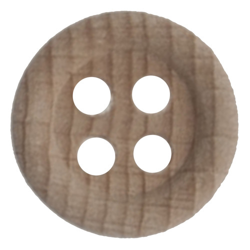 Natural Wood 22mm 4-hole Buttons on Card (Code B) x 2pc