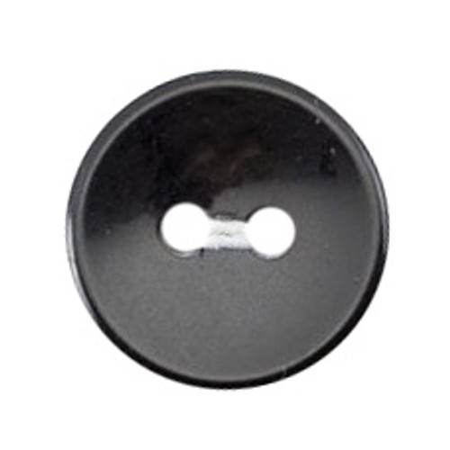 Black 14mm 2-hole Buttons on Card (Code B) x 8pc