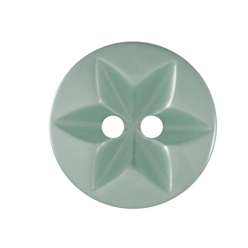 Jade Baby Star 17mm 2-hole Buttons on Card (Code B) x 5pc