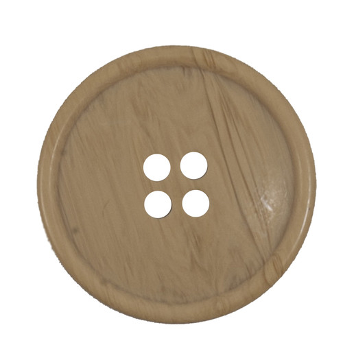 Beige Woodgrain 25mm 4-hole Buttons on Card (Code B) x 2pc