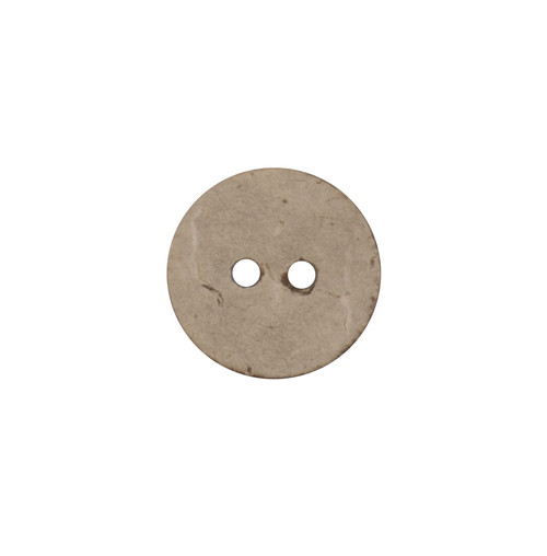 Natural Beige Coconut Husk 15mm 2-hole Buttons on Card (Code C) x 4pc