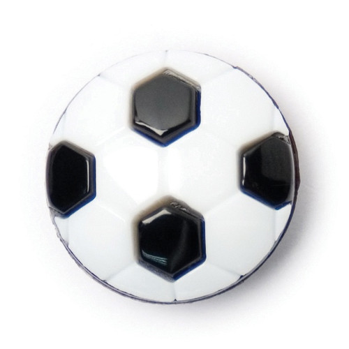 Black & White Football Shape 15mm Shank Buttons on Card (Code C) x 3pc