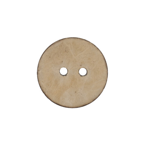 Natural Beige Coconut Husk 17mm 2-hole Buttons on Card (Code C) x 3pc