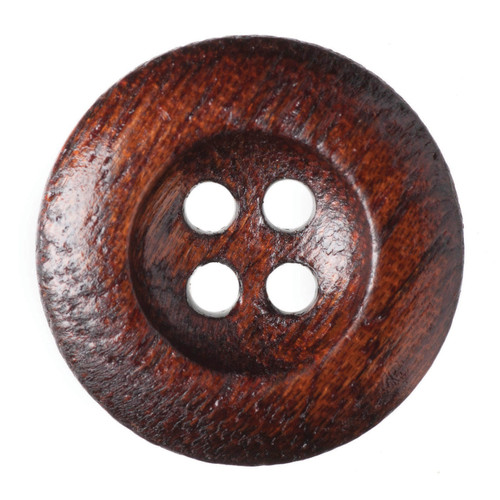 Dark Wood 17mm 4-hole Buttons on Card (Code C) x 4pc