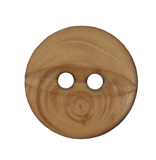 Natural Wood Fisheye 15mm 2-hole Buttons on Card (Code C) x 3pc