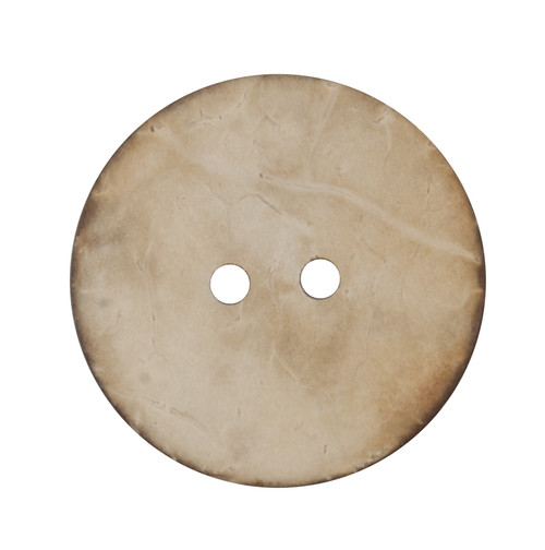 Natural Beige Coconut Husk 25mm 2-hole Buttons on Card (Code D) x 2pc