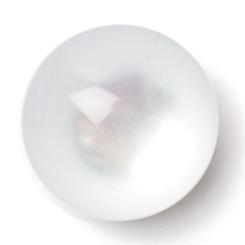 Pearly White Bulbous 11mm Shank Buttons on Card (Code C) x 4pc