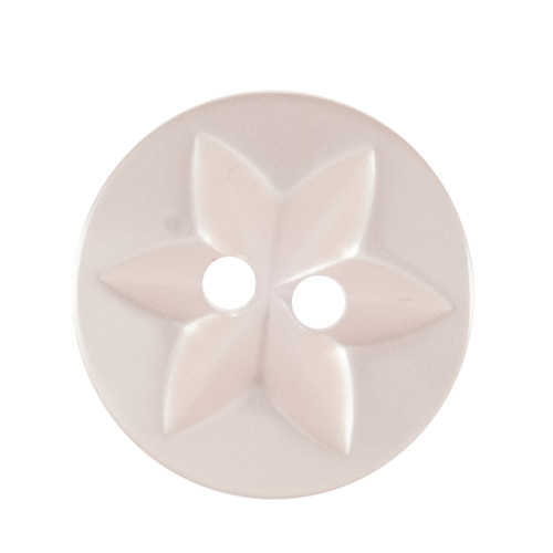Light Pink Baby Star 17mm 2-hole Buttons on Card (Code B) x 5pc