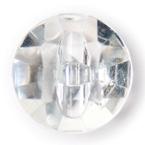 Faceted Crystal Clear 14mm Shank Acrylic Buttons on Card (Code C) x 4pc