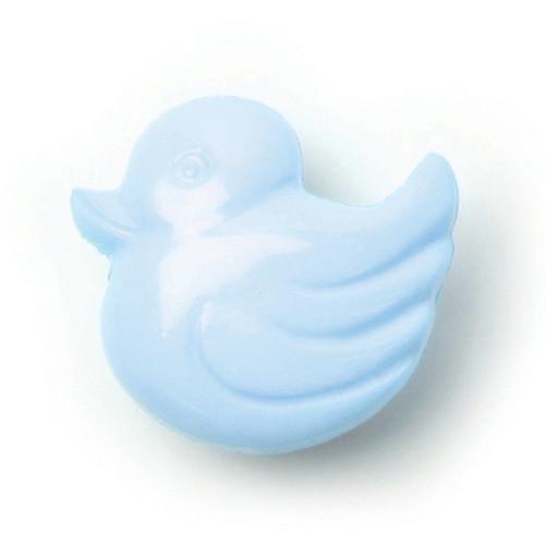 Sky Blue Duck Shape 14mm Shank Buttons on Card (Code C) x 4pc