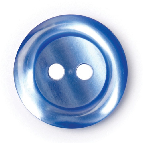 Mid Blue 15mm 2-hole Buttons on Card (Code C) x 5pc