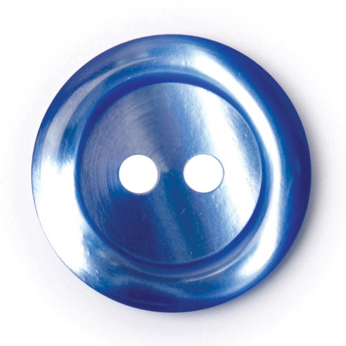 Mid Blue 17mm 2-hole Buttons on Card (Code C) x 4pc