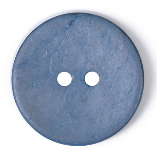 Denim Blue Coconut Husk 22mm 2-hole Buttons on Card (Code B) x 2pc
