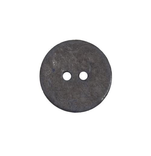 Denim Blue Coconut Husk 17mm 2-hole Buttons on Card (Code B) x 3pc