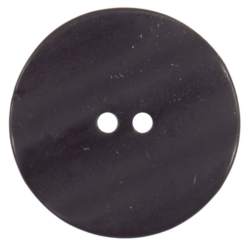 Navy Wave-Top Textured 27mm 2-hole Buttons on Card (Code C) x 2pc