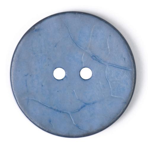 Denim Blue Coconut Husk 30mm 2-hole Buttons on Card (Code B) x 1pc