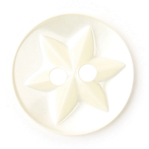 Lemon Baby Star 15mm 2-hole Buttons on Card (Code B) x 6pc