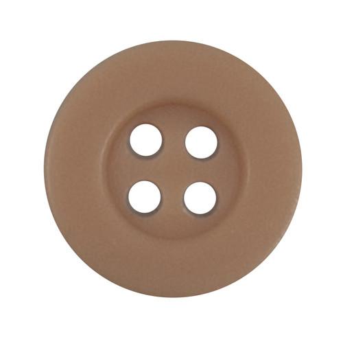 Dark Peach 12mm 4-hole Buttons on Card (Code B) x 5pc