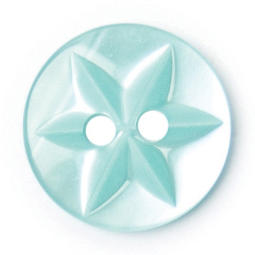 Jade Baby Star 12mm 2-hole Buttons on Card (Code B) x 7pc