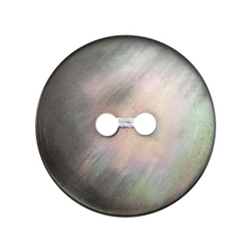 Light Grey Mother of Pearl Shell 14mm 2-hole Buttons on Card (Code C) x 4pc