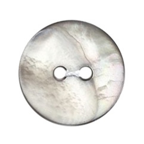 Grey Mother of Pearl Shell 15mm 2-hole Buttons on Card (Code D) x 4pc