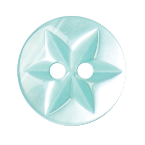 Jade Baby Star 15mm 2-hole Buttons on Card (Code B) x 6pc